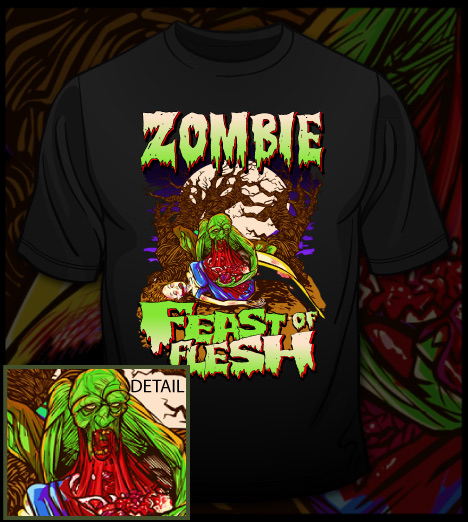 ZOMBIESHIRTIMAGE1 The Halloween T shirt Showcase; Ghosts, Ghouls, Zombies & Witches